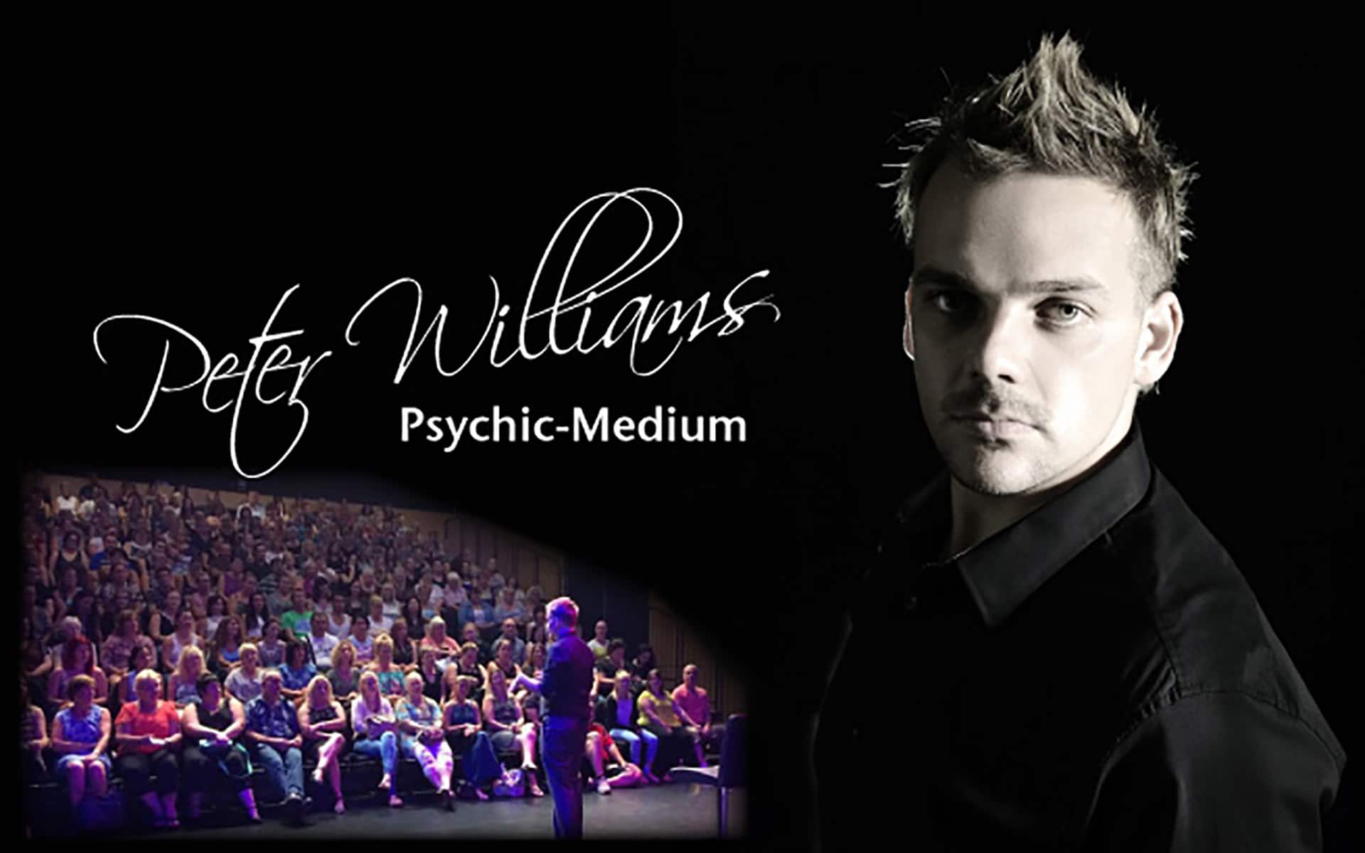 Photo of the Peter Williams, a psychic-medium, for his Studio 188 Ipswich Performance